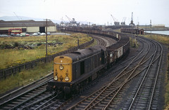 Class 20 no 8124 at Ayr Harbour Oct 1972 A. Wilson