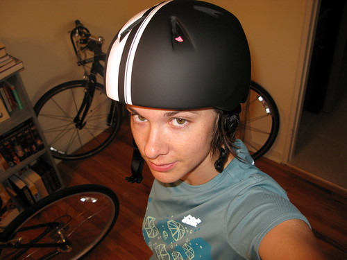 my awesomely tough bike helmet.