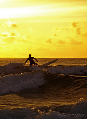 surfing in the sunset (Angkulet) Tags: travel sunset beach philippines surfing sanjuan launion urbiztondo