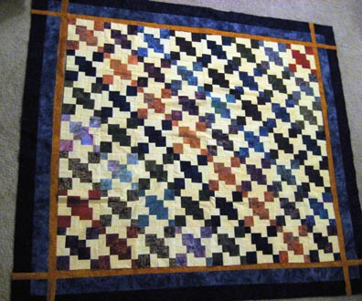 The Quilt Top - Borders sewn, but still unattached