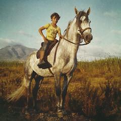 (Ana Cuba) Tags: boy portrait horse white caballo kid nio 500x500 equitacion