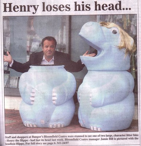 Henry loses his head ...