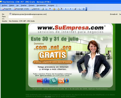 ultimo correo spam de suempresa.com