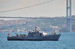 Turkish Navy Patrol Boat AB-29 (P129), Bosphorus, Istanbul, Turkey, July 26, 2008 (Ivan S. Abrams) Tags: coastguard turkey boats nikon mediterranean ataturk ships navy istanbul yachts nautical motorboats nikkor fishingboats shipping tugs lakers ports nikondigital blacksea gallipoli ferries harbors watercraft bosphorus nato tugboats warship vessels freighters tankers cruiseships nrf warships bogaz destroyers ferryboats navyships smallboats speedboats frigates internationaltrade gunboat gunboats patrolboats seaofmarmara navies containerships portcities oceanliners patrolboat nikonprofessional chokepoints onlythebestare turkishnavy ivansabrams trainplanepro feribots natoresponseforce nikond300 internationalshipping sealanes ivanabrams servicecraft oceancommerce boxcarriers internationalcommerce maritimecommerce seaportsseaportmaritime crossroadsasiaeuropebosforbogazasia minorboxesintermodal tugobats copyrightivansafyanabrams2009allrightsreservedunauthorizeduseprohibitedbylawpropertyofivansafyanabrams unauthorizeduseconstitutestheft thisphotographwasmadebyivansafyanabramswhoretainsallrightstheretoc2009ivansafyanabrams