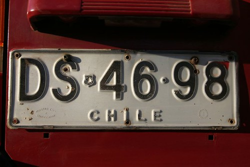 Licence plate - Chile (Rapa Nui)