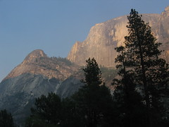 (Matt and Emily) Tags: california yosemite halfdome yosemitenationalpark mirrorlaketrail ahwiyahpoint