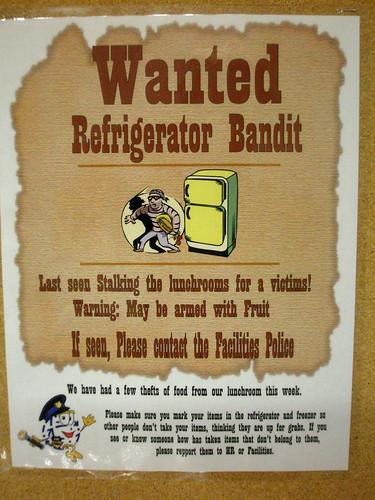 Wanted: Refrigerator Bandit