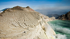 Ijen Crater (devation) Tags: sky lake clouds indonesia volcano nikon sigma mining crater sigma1020mm eastjava ijencrater sigma1020 ijen d80 ijenvolcano nikond80 devation