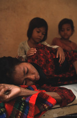mgo-00778 World Bank (World Bank Photo Collection) Tags: family sleeping hospital children bed asia cambodia aids hiv daughter mother patient medical health blanket medicine care dying sick worldbank eastasia