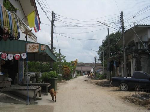 Residential street in Rangon