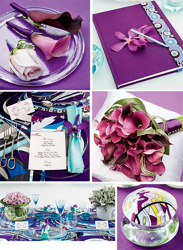 Keywords bridal bouquet Pucci purple wedding theme calla bouquet