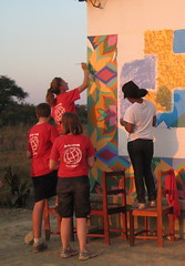 IMG_1434 (LearnServe International) Tags: travel school painting education mural gaby gabe international margaret learning service 2008 highlight zambia shared cie bysara luria monze learnserve lsz08 malambobasicschool