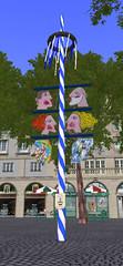 Glockenbach Maibaum restauriert am Sendlinger Tor Platz in MünchenSL