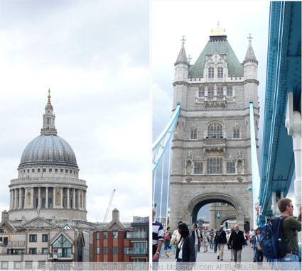 Being a tourist: St. Paul's Cathedral and on the Tower Bridge