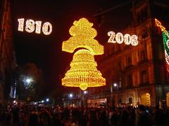 Campana de luces (laap mx) Tags: night mexico lights luces noche mexicocity df bell campana nocturna zocalo ciudaddemexico centrohistorico distritofederal