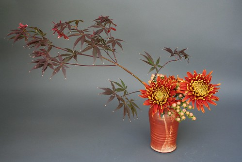 Ikebana-color of the container