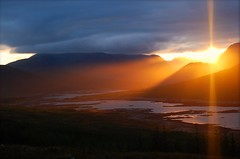 Sunburst - Loch Loyne (Nurmanman) Tags: sunset scotland highlands perfect photographer sunburst loch glengarry the lochlong digitalcameraclub inspiredbylove anawesomeshot aplusphoto cluannie