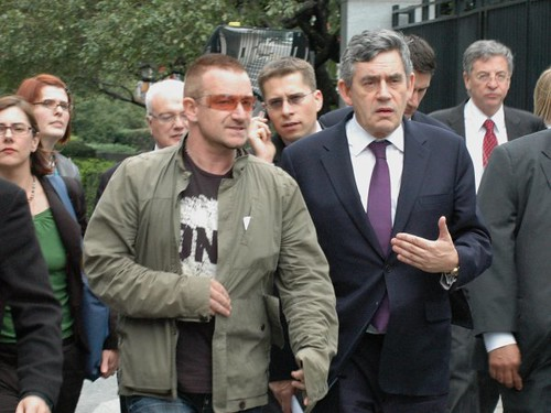 Gordon Brown and Bono