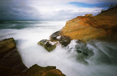 A long time gone, Cape Kiwanda, 30 seconds (Zeb Andrews) Tags: ocean oregon coast waves cliffs pinhole pacificocean pacificnorthwest storms zeroimage pacificcity capekiwanda pinscape zero69 bluemooncamera zebandrews zebandrewsphotography