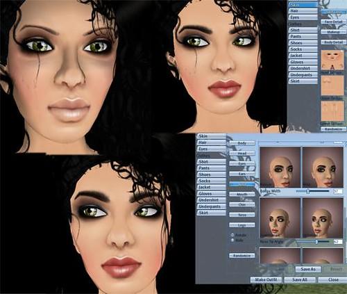 comparison contrast (shape/skin experiment relationship)