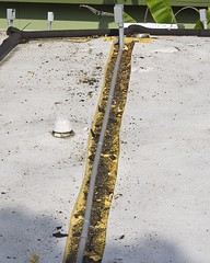 Wire Canal Cut in Sea of Roofing Foam