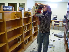 Eric emptying New Books 10-2