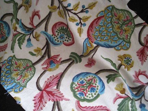 Crewel Fabric for Pillows