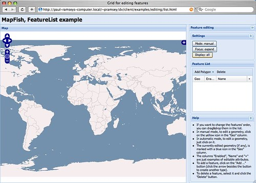 MapFish Default Editing Example