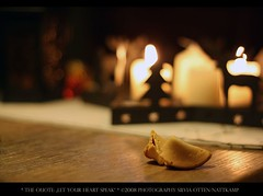 "the quote: ""let your heart speak"" (silviaON) Tags: autumn canon germany europe candles december keks bokeh chinese indoor 2008 oberhausen cooky e4 glckskeks hbw eos400d ivebeentagged"
