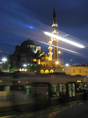 Istanbul Mosque at Night, Turkey (moonjazz) Tags: city light urban night turkey istanbul mosque metropolitian mywinners theunforgettablepictures