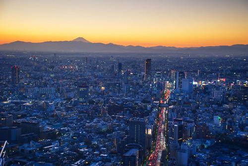Tokyo sunset over Fuji 11