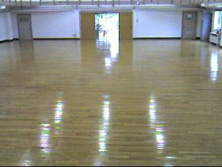 BianCoat applied to Gym floor after