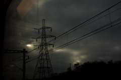22 December, 11.04 (Ti.mo) Tags: travel winter sky travelling dark power eurostar pylon