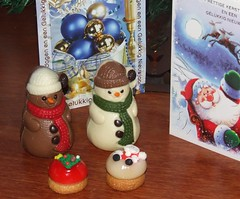 sneeuwpoppen (Gerard Stolk (vers l'Ascension)) Tags: sneeuwpoppen kerstmis chocolade snoep