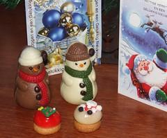 sneeuwpoppen (Gerard Stolk (vers le Chandeleur)) Tags: sneeuwpoppen kerstmis chocolade snoep