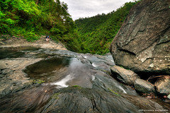 Canapolan Rocks (the-earth-colors) Tags: green fall water creek landscape boat waterfall dock stream flickr raw philippines falls waterfalls waters hdr pinoy heck glendon uwa cs4 misamisoriental photomatix misamis 40d macquinto canapolan