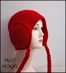 Leia Earmuffs Beanie - Deep Red (by tallybates)