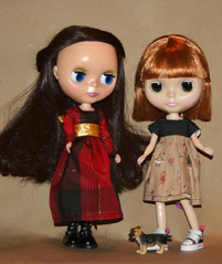 coco and Ruby in new dresses