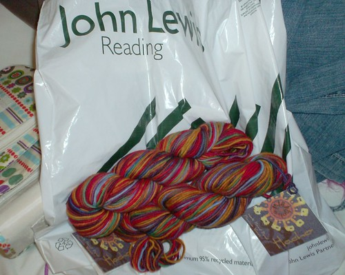 Mirasol Hacho hand dyed yarn from John Lewis Reading Berkshire