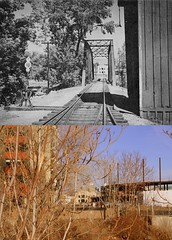Then and Now: V&T Railroad Bridge, Reno Nevada (ScottSchrantz) Tags: railroad virginia construction nevada then reno now ballpark thenandnow truckee rephotography vtrailroad virginiaandtruckeerailroad renoaces