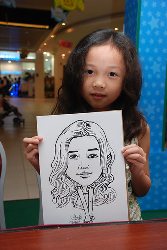 Caricature live sketching for Marina Square Day 2 - 5a