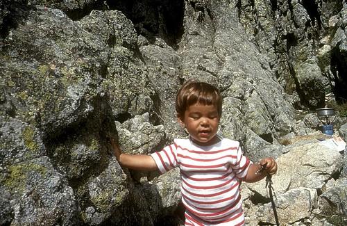 Sur les crêtes d'Asinao avec les enfants : Cécile