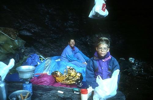 Bivouac à la bergerie du Saltare : Nicole et Laurent