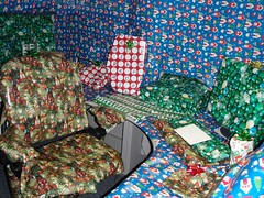 Everything inside the office is wrapped.