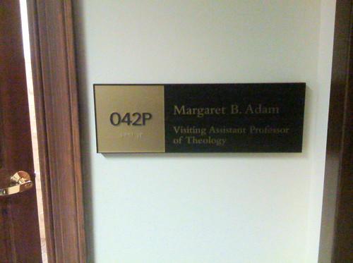 Margaret's Nameplate
