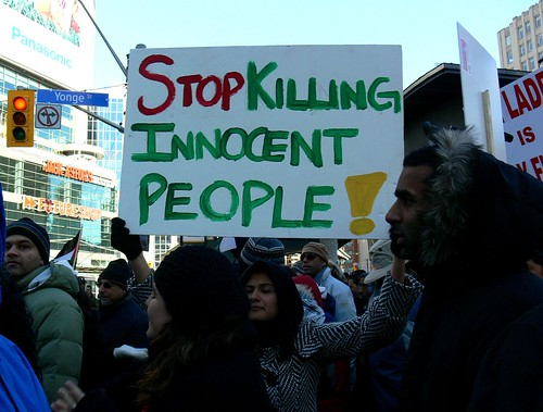 Toronto Protests Against The Israeli Assault on Gaza