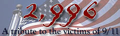 Always Remember 9/11 and the 2,996 innocent lives lost because of piece of shit Muslim extremists