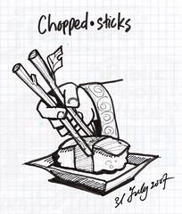 "Chopsticks (Liyin Yeo) Tags: moleskine illustration handwriting idea sketch diary journal sketching chopsticks twigs 2009 scripture bibleverse liyincreative ""liyin"" yeo"" ""lukisholic"" ""liyincreativecom"" wwwliyincreativecom"