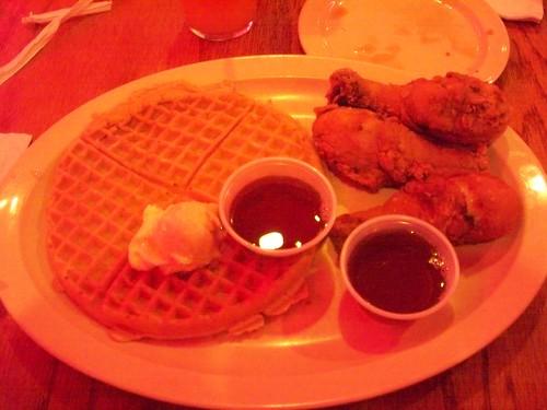 triple chicken waffle!