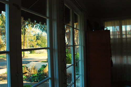 Looking southeast out the French doors, by Wonderlane, on Flickr